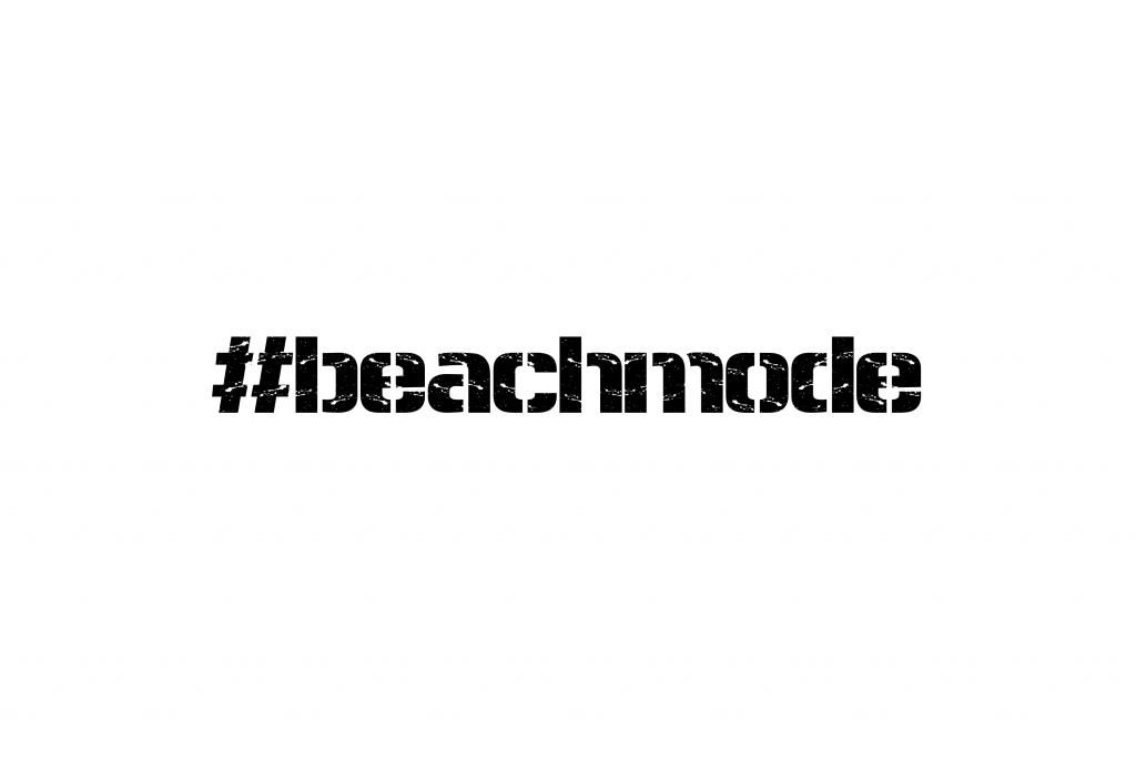 #beachmode logo from early bum