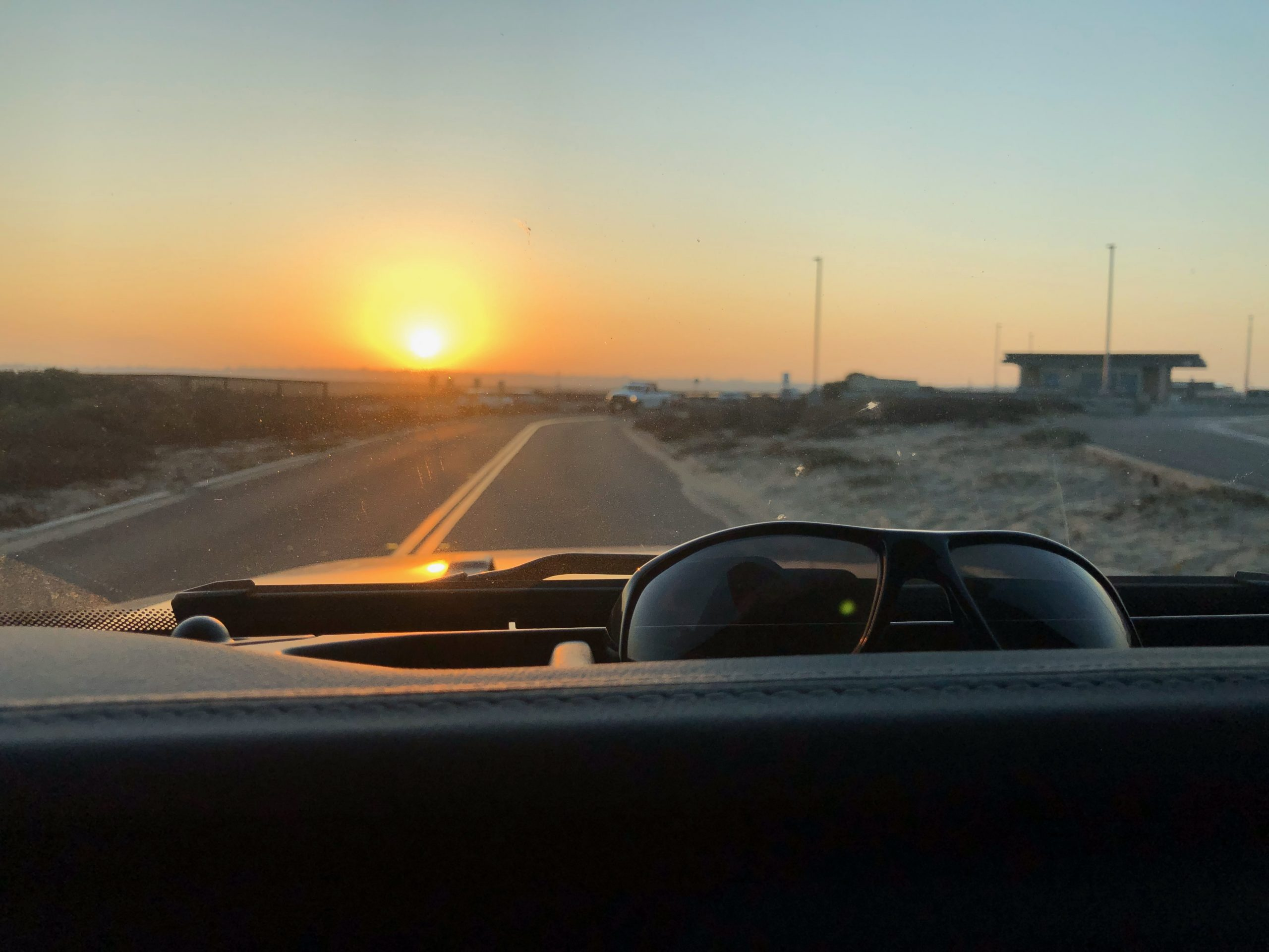 sunrise from jeep on early bum trek
